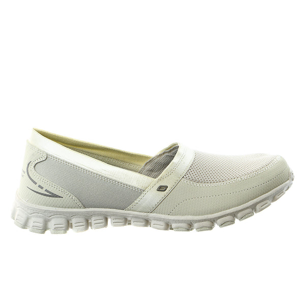 Skechers EZ Flex Take It Easy Shoe - Natural/Brown - Womens