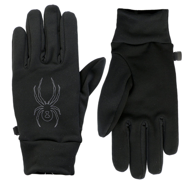 Spyder Stretch Fleece Conduct Glove  - Black/Pol - Mens