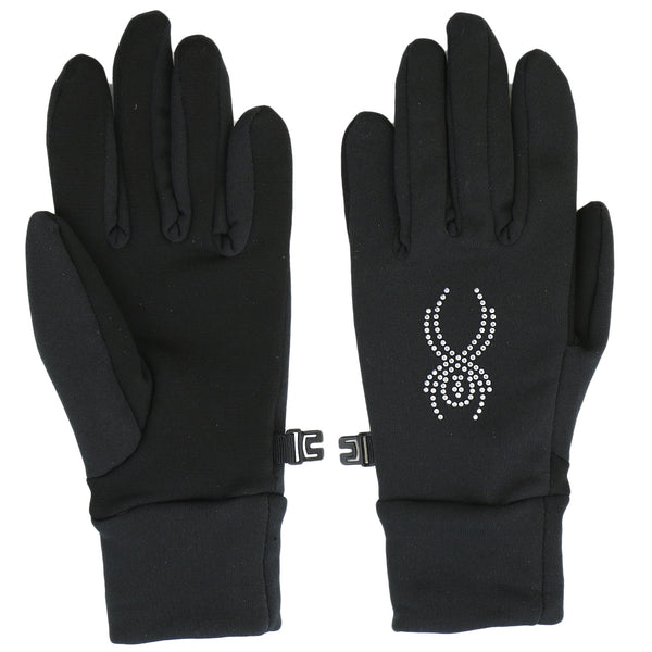 Spyder Stretch Fleece Conduct Glove  - Black/Silver - Womens