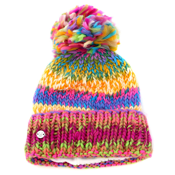 Spyder Twisty Hat  - WHT/MLT - Girls