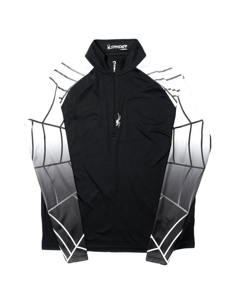 Spyder Linear Web T-Neck Shirt Athletic Top - Mens