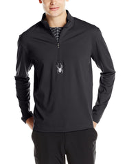 Spyder Silver Dip DRY W.E.B. T-Neck Top Athletic Shirt - Mens
