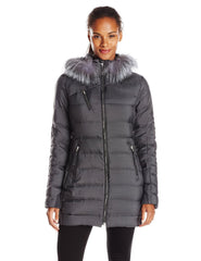Spyder Aimie Long Down Coat Fur Hooded Jacket - Womens