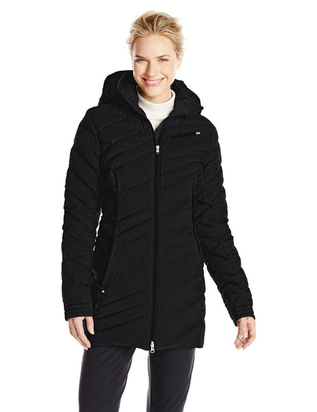 Spyder Timeless Long Down Jacket Hooded Coat - Womens