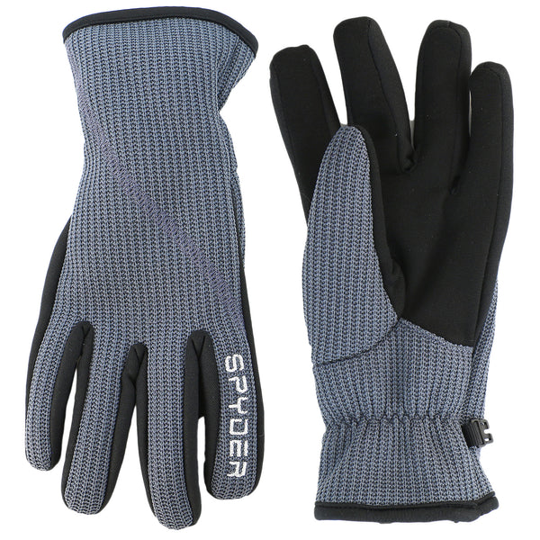 Spyder Core Sweater Conduct Gloves  - Black/Silver - Mens