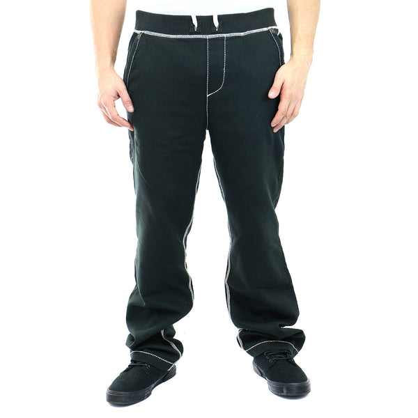 True Religion Contrast Wide Leg Sweatpants - Pavement - Mens