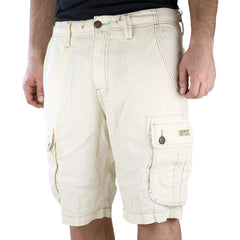True Religion Recon Cargo Linen Short - Ecru - Mens