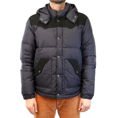 True Religion Contrast Puffer Jacket - Black - Mens