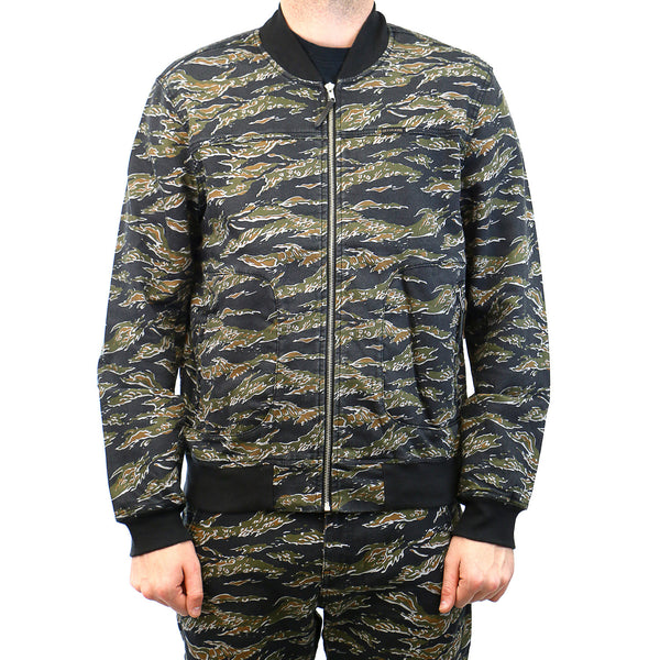 True Religion Runner Zip Fashion Track Jacket - Printed Camo - Mens