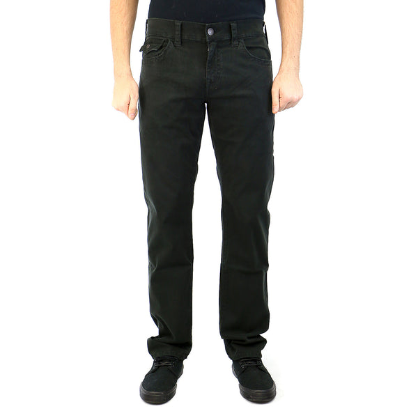 True Religion Geno Flap Pocket Slim Straight Overdye Sateen Pant - Black - Mens