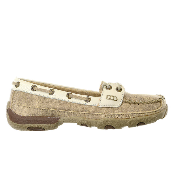 Twisted X Driving Moccasin Toe Casual Boat Shoes - Womens