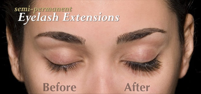 Semi-Permanent Eyelash Extensions Before/After