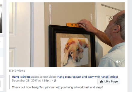 Thank you for helping us launch hangITstrips so we can simplify the process of hanging pictures