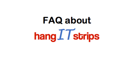 FAQ for hanging pictures using hangITstrips