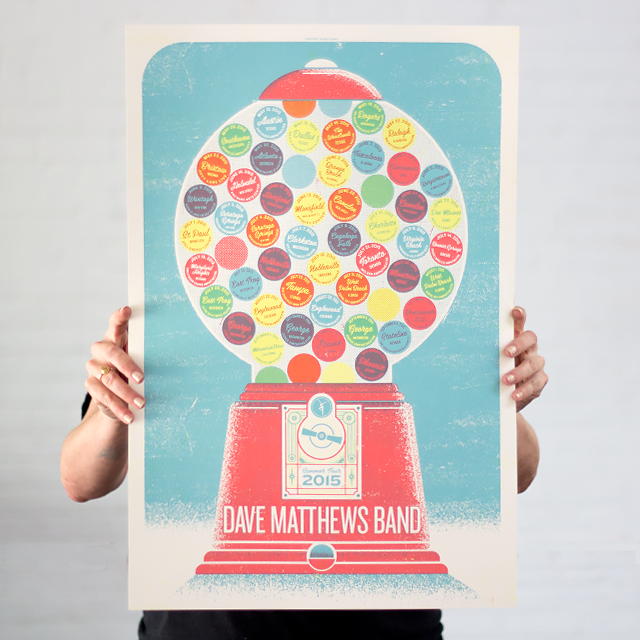 Dave Mathews Band - Gumball Tour Poster Variant
