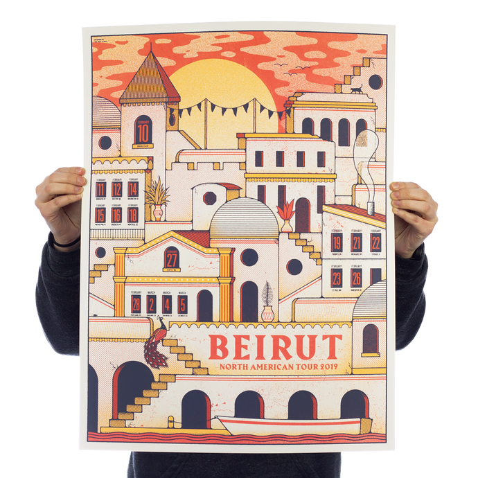 Beirut - Tour Poster (Orange)