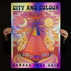 City and Colour - Canada Tour Poster 2019