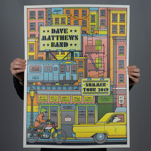 Dave Matthews Band Summer Tour Poster 2019