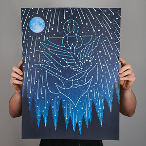 Jason Isbell and the 400 Unit - Glow in the Dark Art Print