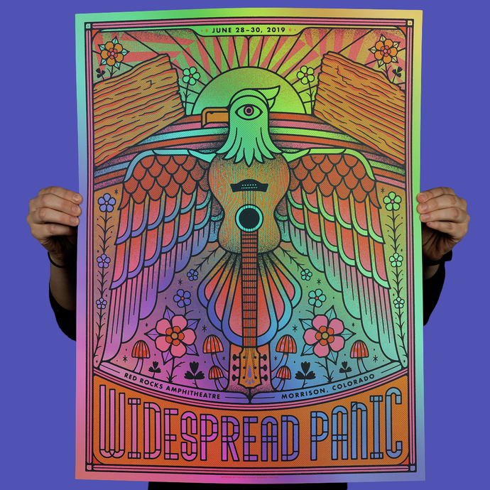 Widespread Panic- Red Rocks Foil