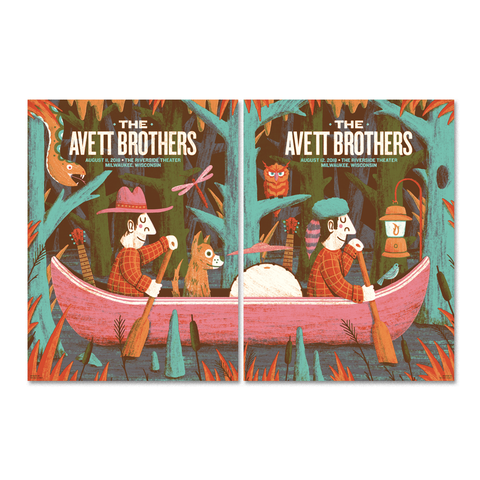 Avett Brothers - Milwaukee - N1 + N2 Matching Numbers
