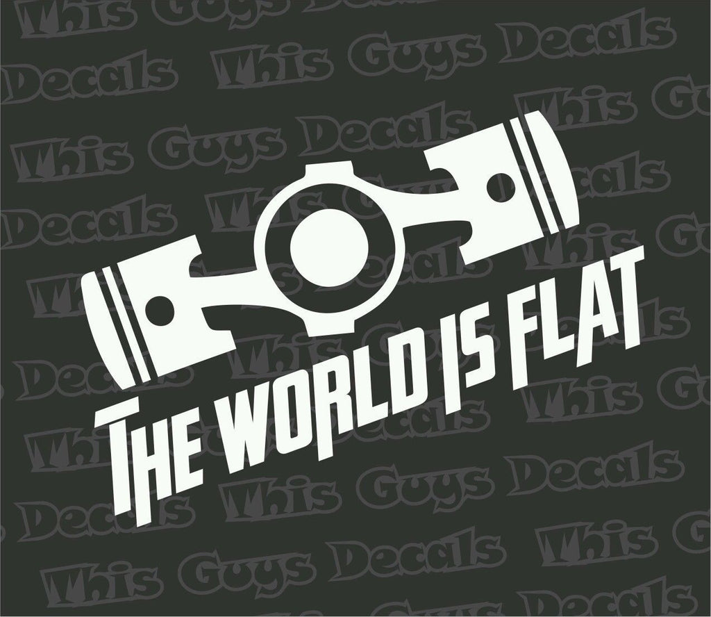 the world is flat decal