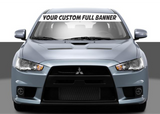 Custom SOLID Windshield Banner with text