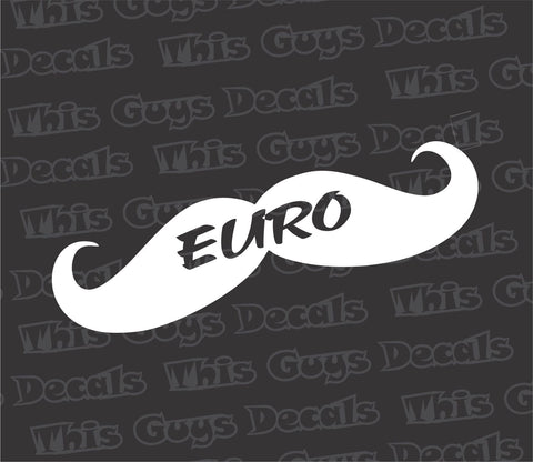 euro mustache decal