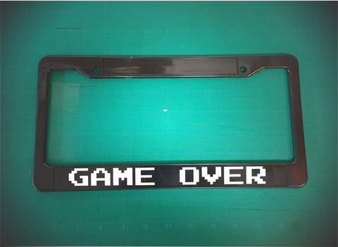 game over license plate frame