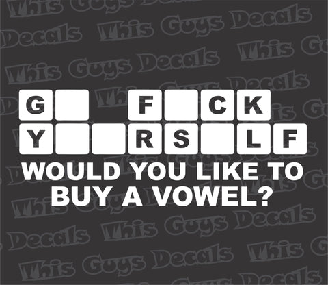 would you like to buy a vowel decal