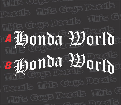 honda world banner