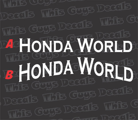 honda world banner V4