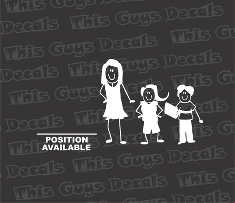 position available stick figure family decal