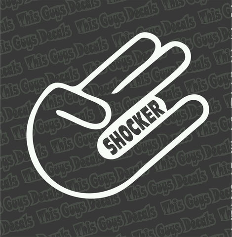 shocker finger decal