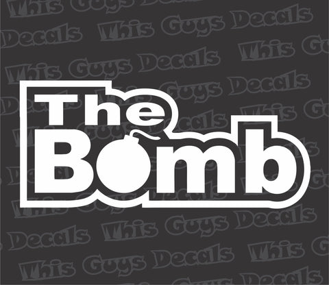 the bomb decal