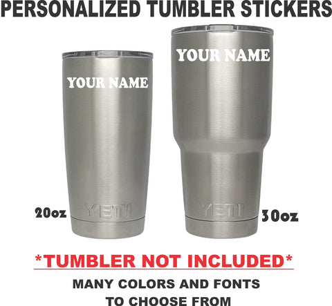 PERSONALIZED TUMBLER DECAL