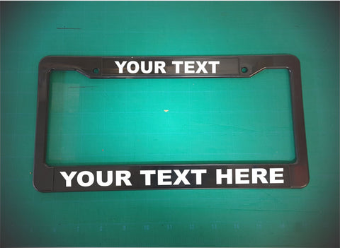 your custom text license plate frame