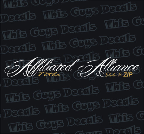 Affiliated Alliance 38x4 inch new Banner