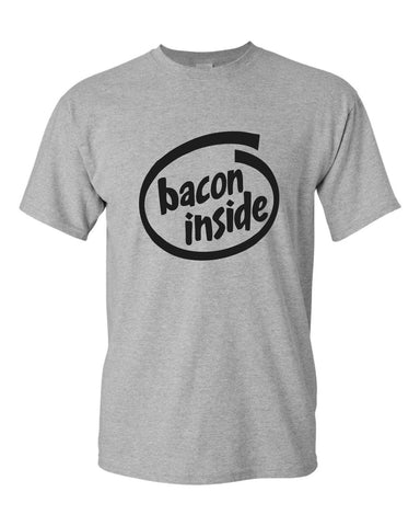 bacon inside T-shirt