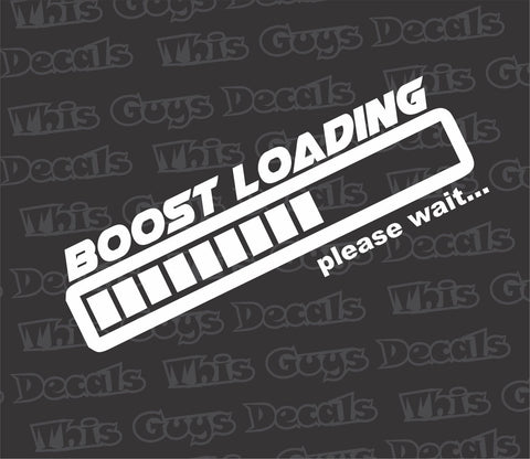 boost loading decal