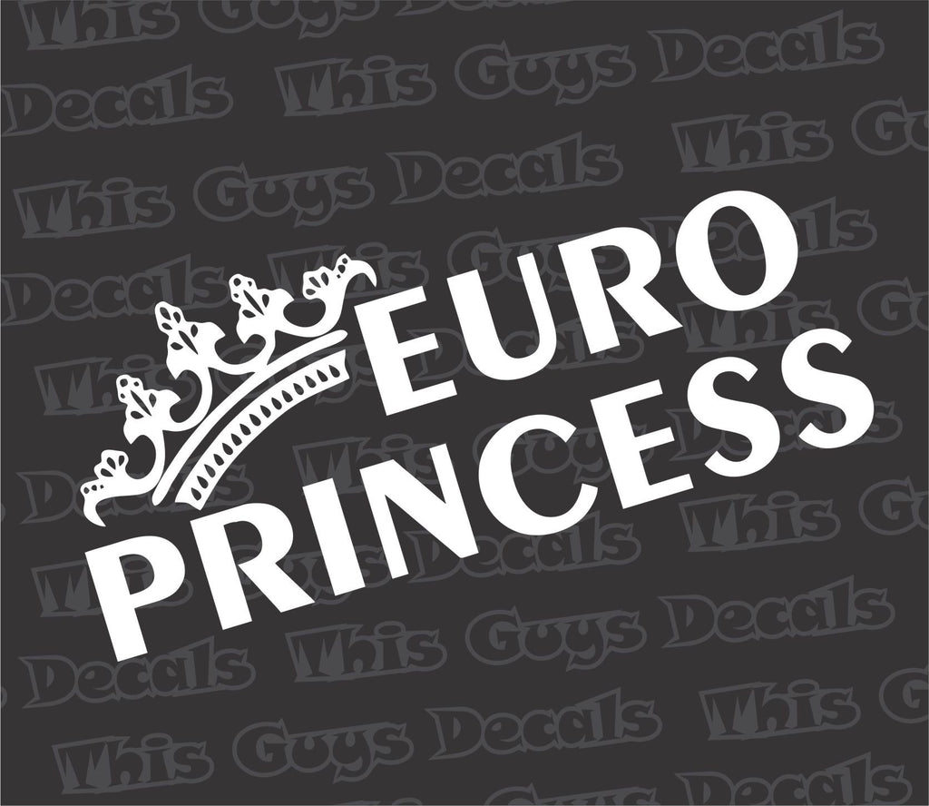 euro princess decal