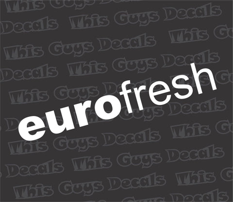 euro fresh V2 decal