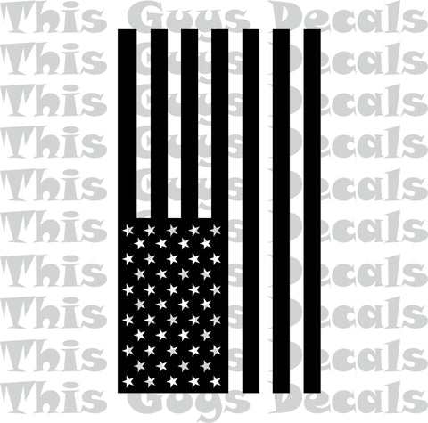 american flag roof graphic