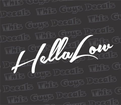 hellalow decal