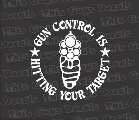 gun control is hitting your target decal