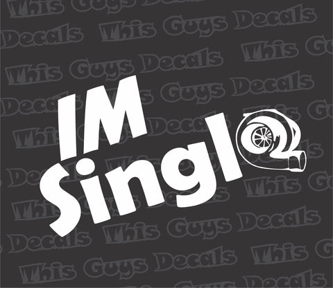 IM Single turbo decal
