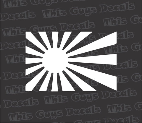 japanese flag decal