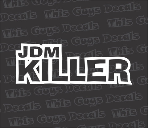 jdm killer euro decal