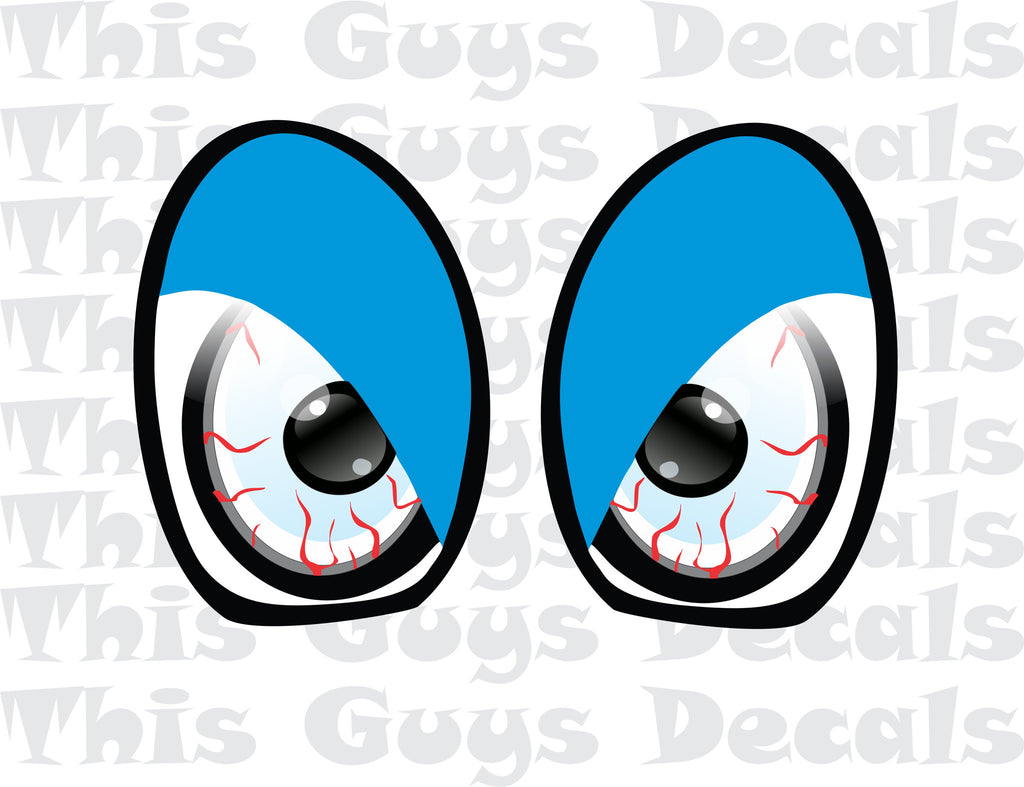 Printed Mini Cooper Eyes Blue