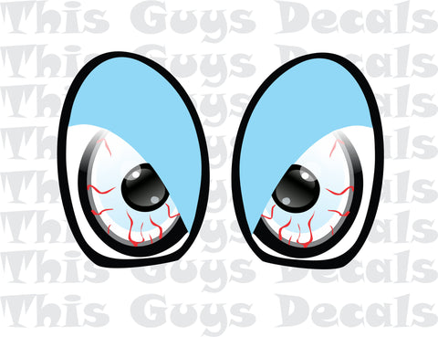 Printed Mini Cooper Eyes Light Blue